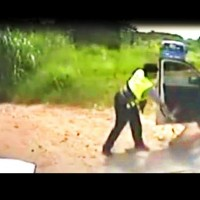 Screenshot of police video.
