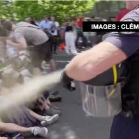 法警對和平示威者施胡椒噴霧 政府將調查