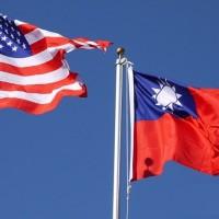 台美國旗(照片來源:中央社提供)