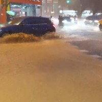 Videos show flooded streets in southern Taiwan