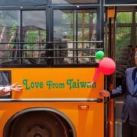 來自台灣的愛 台美合捐校車給南印度天主教學校