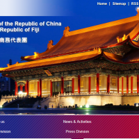 The current page of Taiwan's office in Fiji (screenshot from https://www.roc-taiwan.org/fj_en/).