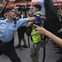 Hong Kong protesters target mainland Chinese traders