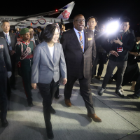 President of Taiwan arrives in St. Kitts and Nevis