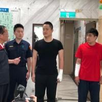 Two policemen slashed, fraudster shot twice in Taipei