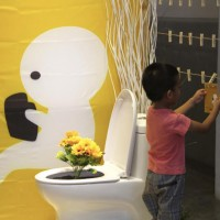 Bathroom literature exhibition in Taipei aims to promote gender equality