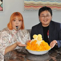 South Korean celebrity eats to heart's content in Taipei