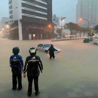 Kaohsiung flooded street, July 19