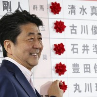 Despite win, Abe's coalition short of votes needed to change Japan constitution