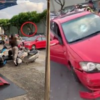 Video shows drunk female driver trying to run over pedestrians in W. Taiwan