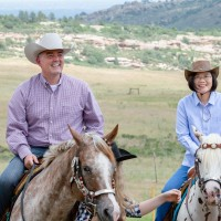 Photo of the Day: Taiwan's president riding horseback in Colorado