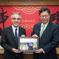 Taoyuan mayor grants honorary citizenship to outgoing Dir. of French Office in Taipei