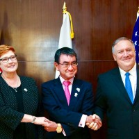 US, Japan, Australia affirm partnership to promote 'free, open Indo-Pacific'