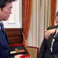 Japanese media NHK interviews Taiwan President Tsai Ing-wen