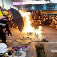 Hong Kong protesters and police face off ahead of city-wide strike