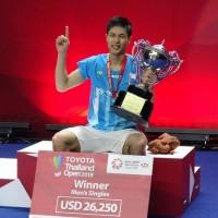 周天成泰國羽球賽奪冠 排名可望升至世界第2