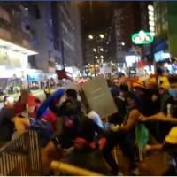 Video shows Hong Kong's black shirts beating back white shirts