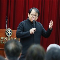 Ju Percussion Group founder gives speech at Taiwan's MOFA