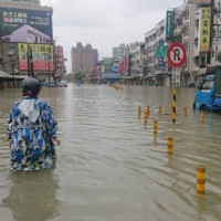 Fatality reported during heavy rain, flooding in S. Taiwan