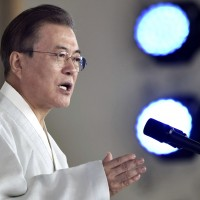 文在寅光復演講稱韓國2045前和平統一 北韓回嗆「妄想」