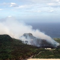 Fire destroys 28 hectares on Taiwan's Green Island