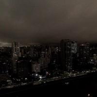 巴西聖保羅遭濃煙籠罩(圖/Twitter - André Só)