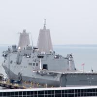 US Navy ship passes through Taiwan Strait