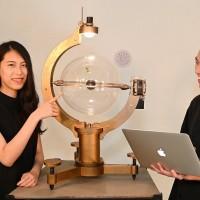 台灣清大女生創作地球儀「指揮」豌豆生長 驚艷奧地利國際「電子藝術節」