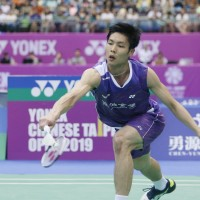 Taiwan's Chou advances to finals in Taipei badminton tourney