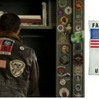 Screenshot from 'Top Gun: Maverick' and the original patch.