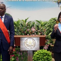 President Tsai Ing-wen (right) hosting Haitian President Jovenel Moïse in May 2018.