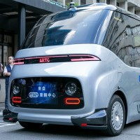 Taiwan unveils first homegrown self-driving electric minibus