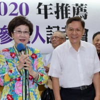 Annette Lu (left) and Peng Pai-hsien (CNA photo)