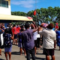 100 Solomon Islanders attend flag lowering at Taiwan embassy