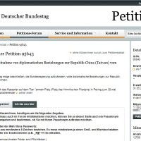 Petition calling on Germany to open diplomatic relations with Taiwan gains 12,000 signatures