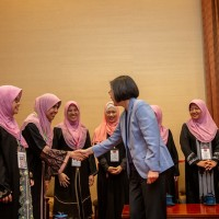 President Tsai meets with local Muslims, touts Taiwan's Muslim-friendly environment