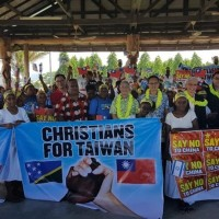 Solomon Islanders hold march in support of Taiwan after switch to China