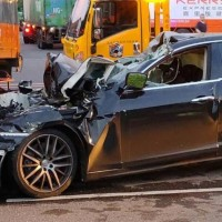 Drunk Maserati driver dies after crashing into truck in N. Taiwan