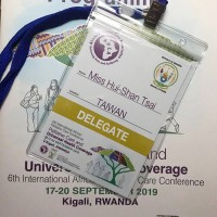 The Taiwanese doctor's conference pass (photo by Tsai Hui-shan).