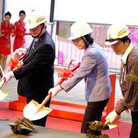 President Tsai joins groundbreaking ceremony for Taiwan's Taoyuan MRT tunnel