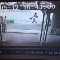 Video surveillance of one of the attackers