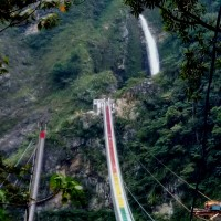 Bridge near central Taiwan's Shuanglong Waterfall to be inaugurated at year's end
