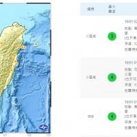 颱風夜不平靜 高雄和花蓮連3震 最大芮氏規模4.4