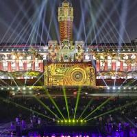 國慶光雕氣場超強!國防部心理作戰大隊超「炫」表演