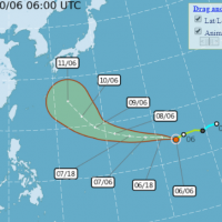 Tropical Storm Hagibis not expected to directly affect Taiwan