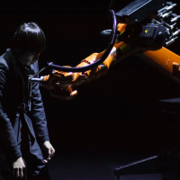 Man and machine in perfect harmony performance by Taiwan's Huang Yi studio