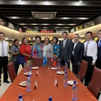 Delegation from Palau visits Taiwan food factory