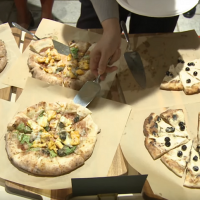 Bubble milk tea pizza served up at Taiwan's National Day Reception