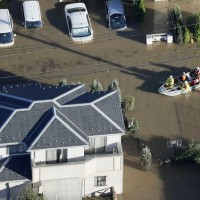 Rescue efforts begin after typhoon causes flooding in Japan