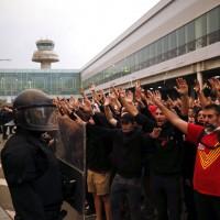 不滿加泰隆尼亞獨派領袖遭判重刑 巴塞隆納湧示威人潮